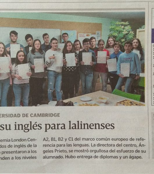 Diplomas por su inglés para lalinenses